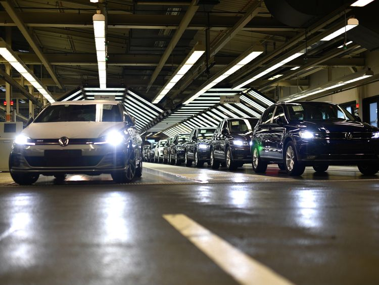 Bottlenecks in Germany's car-making sector have been blamed for the economic contraction