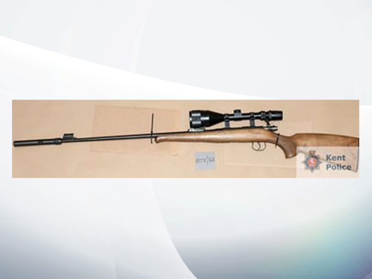 Police found a long-barrelled bolt action firearm at the Pollard's house