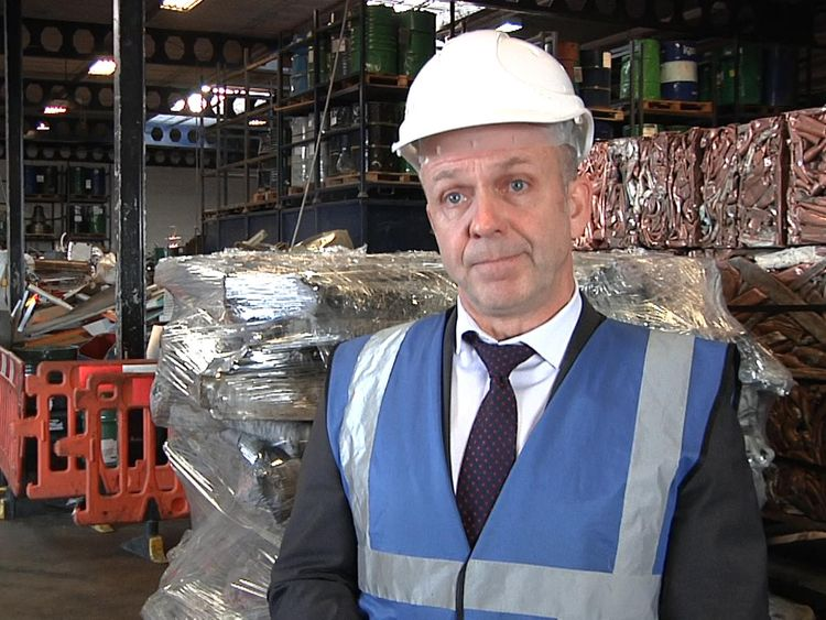 Ex-police officer Robin Edwards called on the scrap metal business to 'step up'