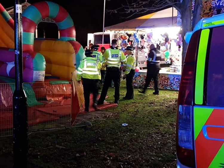 8 children hurt in inflatable slide collapse at UK funfair