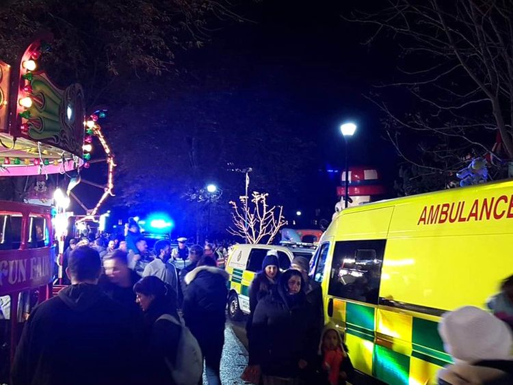 Woking Park was evacuated. Pic: Andy Datson