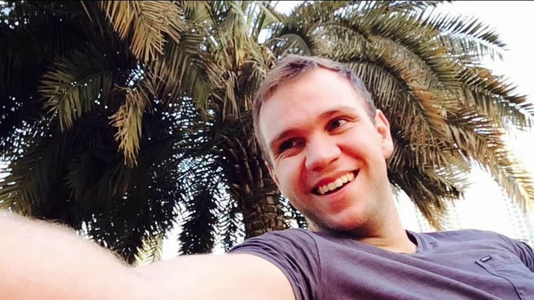 Matthew Hedges, 31, was detained at Dubai Airport on 5 May and accused of spying in the UAE