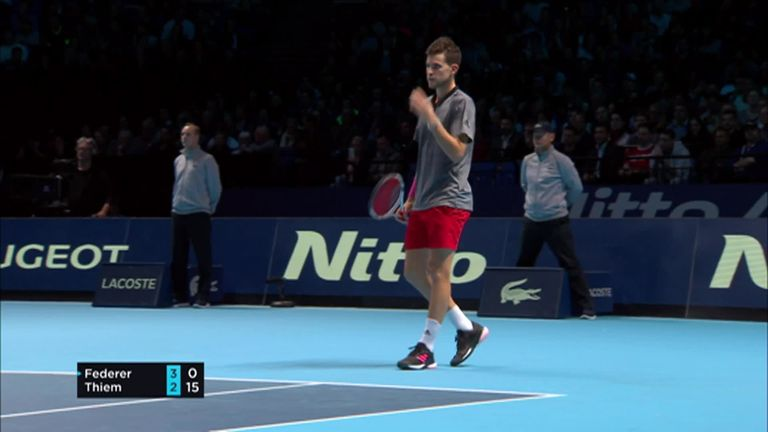 Roger Federer Defeats Dominic Thiem At Atp Finals In London Tennis