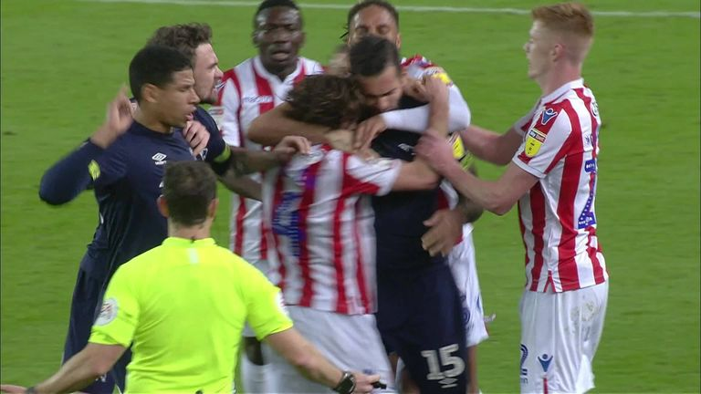 Joe Allen and Bradley Johnson involved in 'biting' incident during Stoke v Derby | Football News |