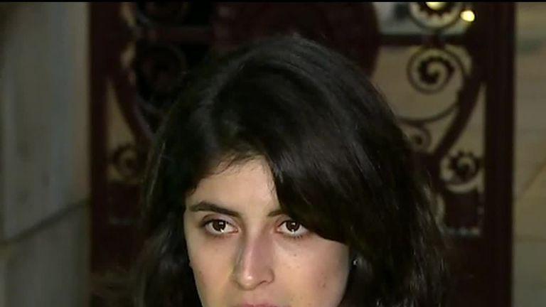 Daniela Tejada, wife of British academic Matthew Hedges