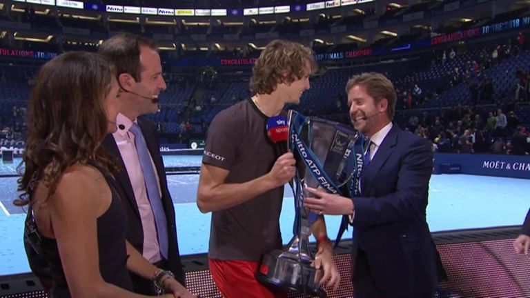 Alexander Zverev on cloud nine after winning ATP Finals trophy in London | Tennis News |