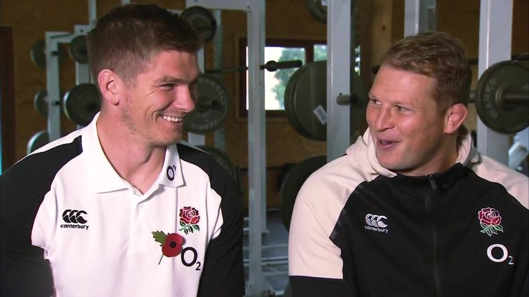 Dylan Hartley and Owen Farrell spoke about their roles as co-captains ahead of Saturday's Test against the Springboks