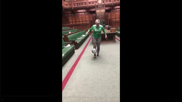 Female MPs kickabout in Commons