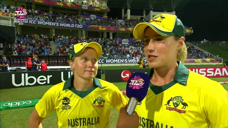 Player of the Tournament, Alyssa Healy, says Australia's batting strength proved key in their Women's World T20 triumph.
