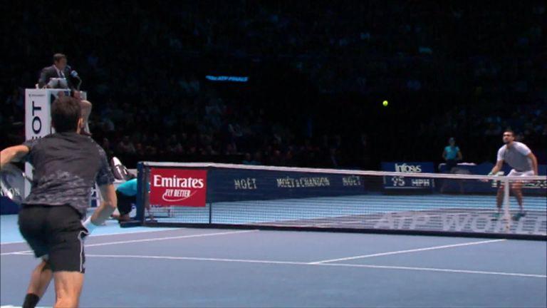 Novak Djokovic Warms Up For Semi Finals With Impressive Marin Cilic