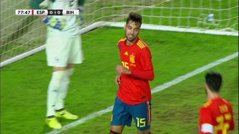 Alvaro Morata misses open goal in Spain's 1-0 friendly win over Bosnia   Football News  