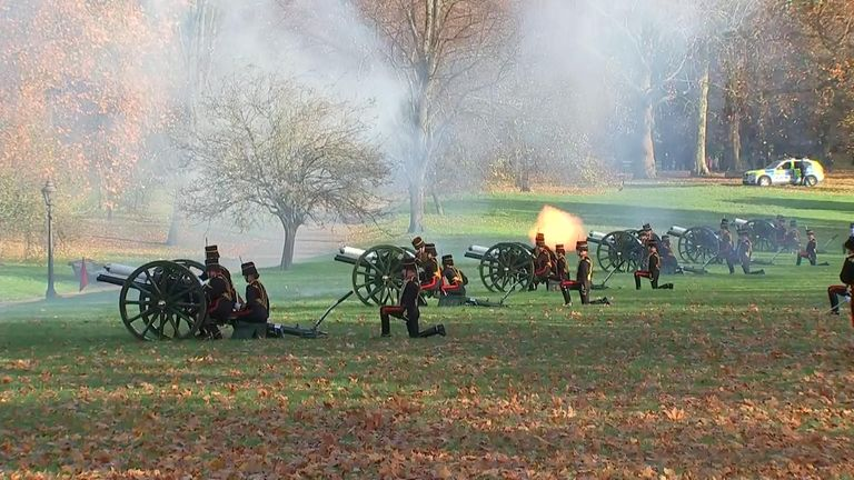 41 gun salute for Prince Charles's 70th birthday