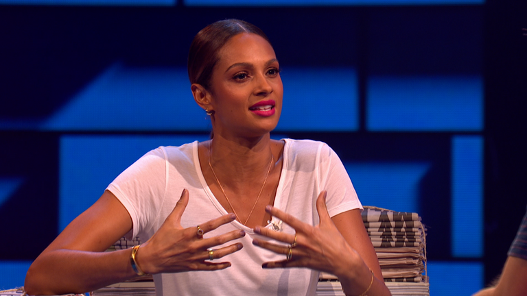 Alesha Dixon appears on the Russell Howard Hour on Sky One
