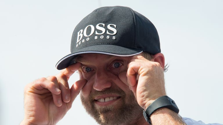 Alex Thomson made light of his sleepy slip-up in the final stages of  the Route de Rhum