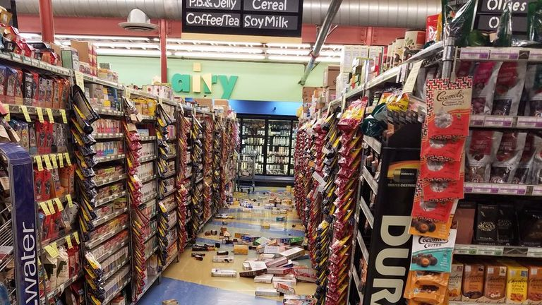 A supermarket in Anchorage was rocked by the massive quake