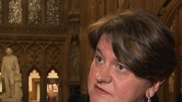 Arlene Foster repeats that the DUP will never vote to break up the union