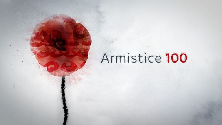 The commemoration events will be live on Sky News across the remembrance period.