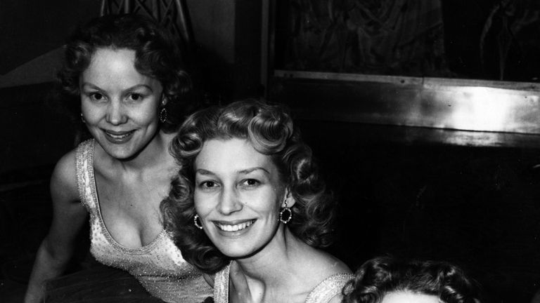 The Beverley Sisters, Teddie, Joy and Babs, at the Cafe de Paris, London, shortly before a US tour in 1952