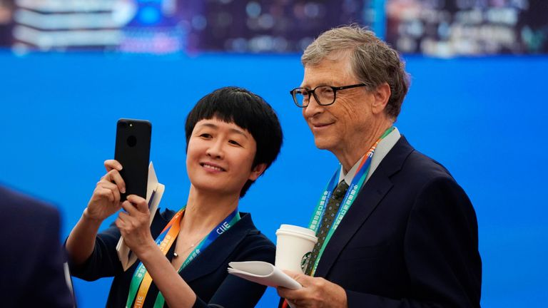 Microsoft founder Bill Gates was among the delegates in Shanghai