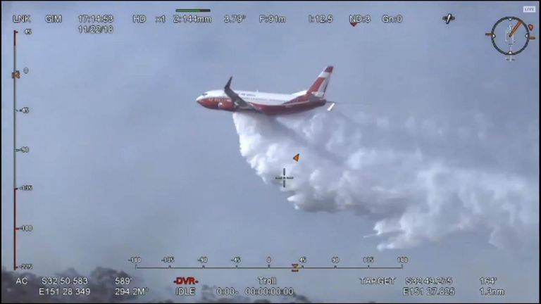 Boeing 737 deployed in New South Wales bushfires operation