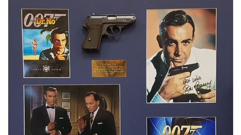The gun was given to the vendor by Bernard Lee