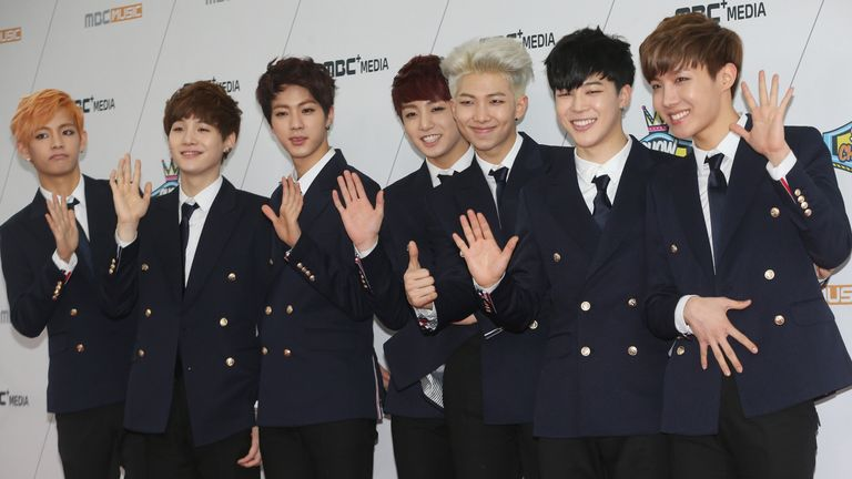 BTS are the first K-pop band to have topped the US Billboard 200