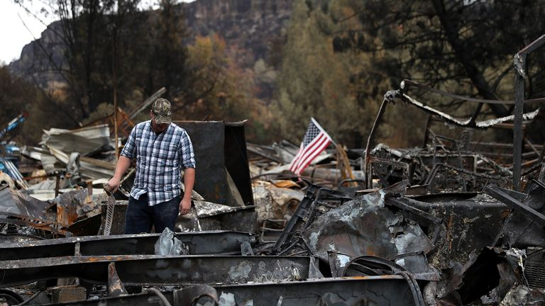 The California town Paradise was destroyed by wildfires