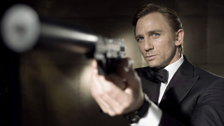 Daniel Craig as James Bond in Casino Royale in 2006