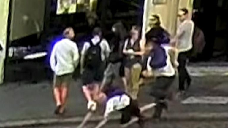 Police are seeking information about the incident involving a man being pushed in front of a taxi