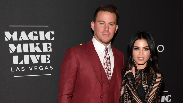 Channing Tatum and Jenna Tatum pictured in April 2017