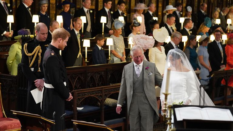 Prince Charles stepped in to walk Meghan down the aisle