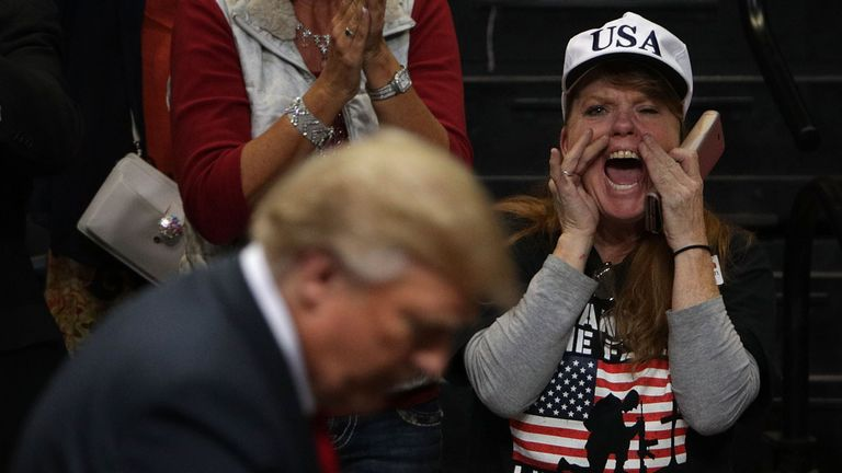Mr Trump made a fiery speech in Chattanooga, Tennessee