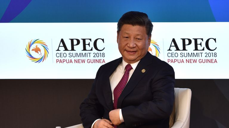 Chinese President Xi Jinping at the Apec summit