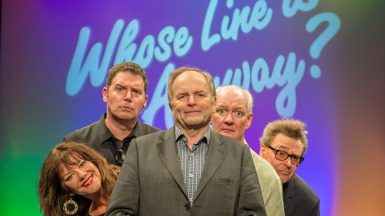 Clive Anderson (centre) is hosting Whose Line Is It Anyway? live at the Royal Albert Hall
