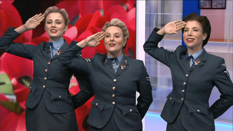 D-Day darlings sing for Armistice Day