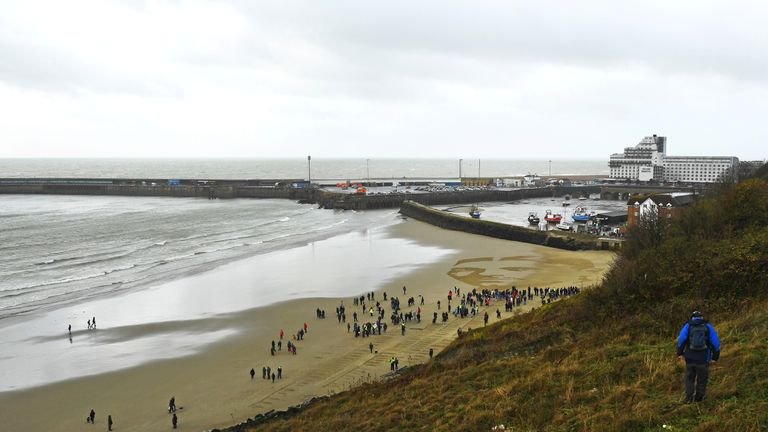 The portrait is part of Danny Boyle's Pages of The Sea celebrations