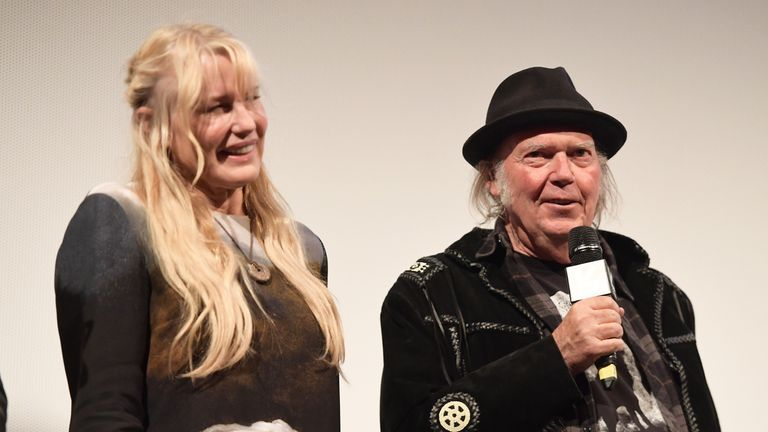 Daryl Hannah and Neil Young attend the 'Paradox' Premiere 2018 SXSW Conference and Festivals at Paramount Theatre on March 15, 2018 in Austin, Texas