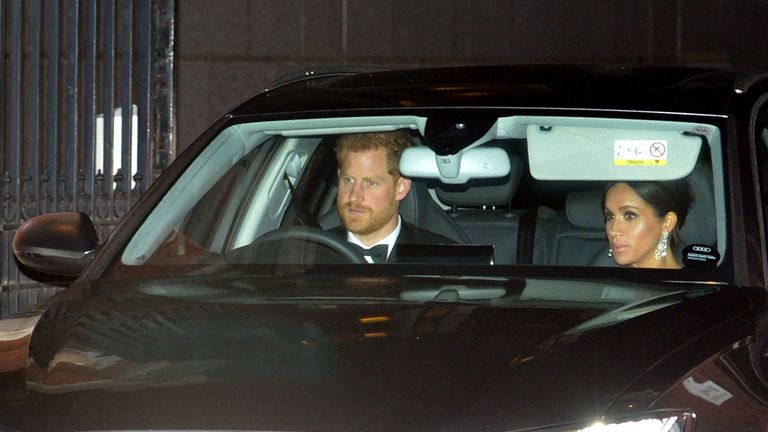 The Duke and Duchess of Sussex leave Kensington Palace