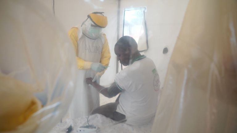 Health professionals put themselves at risk when tackling diseases like Ebola