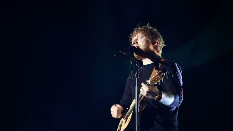 Ed Sheeran performs at Mt Smart Stadium on March 24, 2018 in Auckland, New Zealand.