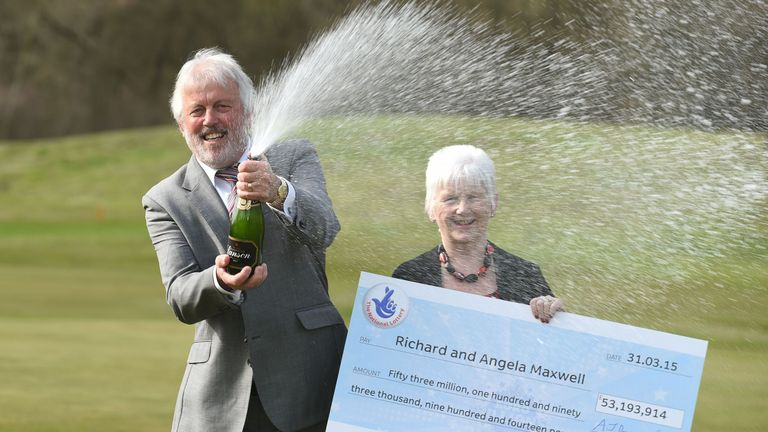 Richard and Angela Maxwell from Boston in Lincolnshire won £53m