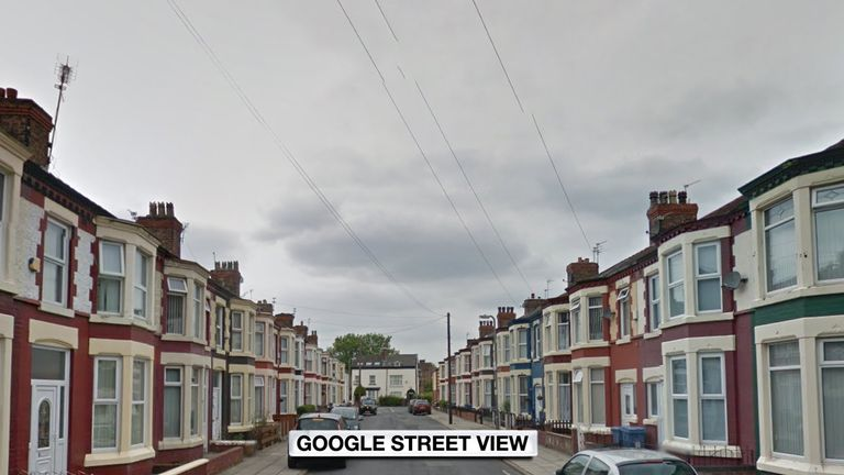 The accident happened on Fairburn Road in Liverpool. Pic: Google Street View