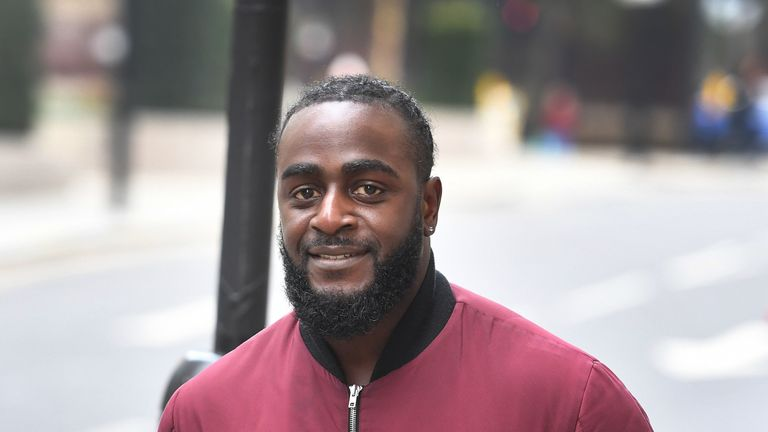 Festus Onasanya, the brother of Labour MP Fiona Onasanya, arrives at the Old Bailey