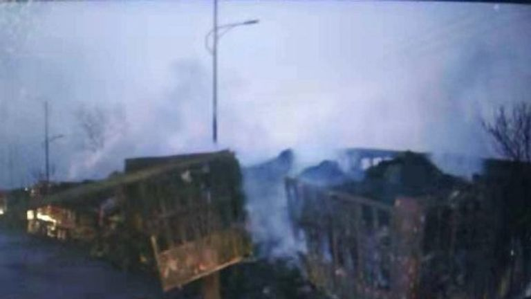 The blast happened in the city of Zhangjiakou, 124 miles northwest of Beijing