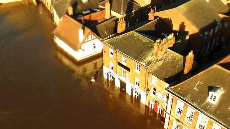 Flooding on River Ouse in York. Pic from McCarthy VT