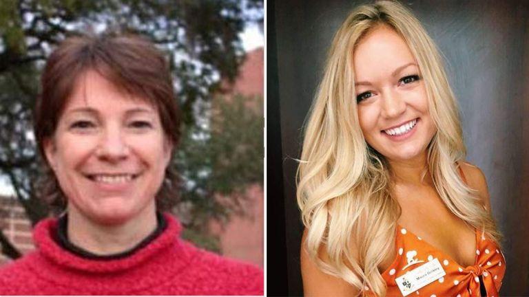 Nancy Van Vessem and Maura Binkley were shot dead at the Hot Yoga studio in Tallahassee. Pic: Facebook