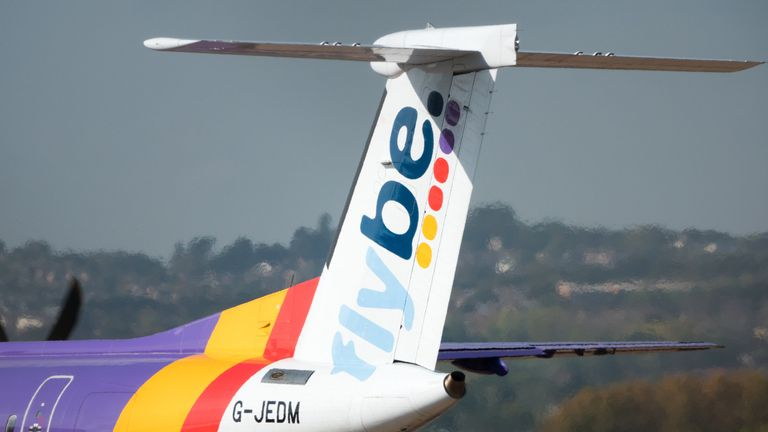 "A Flybe plane went ""nose down"". File pic"