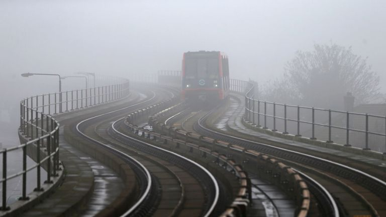 Fog, reducing visibility, can cause rail delays (file pic)