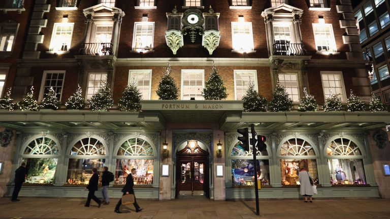 Fortnum & Mason department store on Piccadilly on November 28, 2012 in London, England
