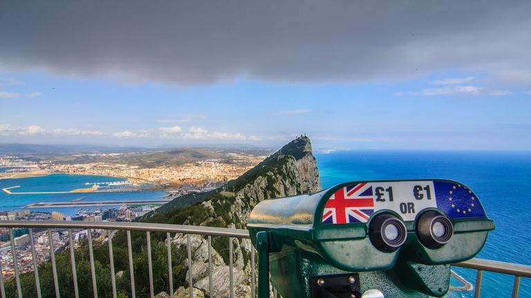 The top of the Rock of Gibraltar